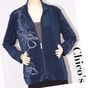 Chico's Travelers Blue Jacket